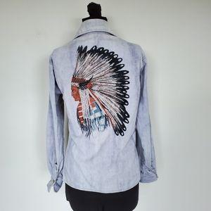 Vintage Kennington Native American Westetn Shirt L